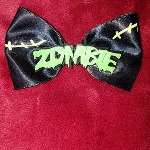 "3.5"" Zombie Stitches Hair Bow Undead Clip"